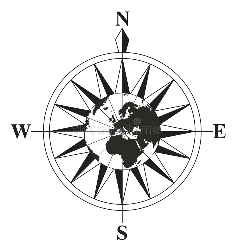 Black And White Compass Royalty Free Stock Images
