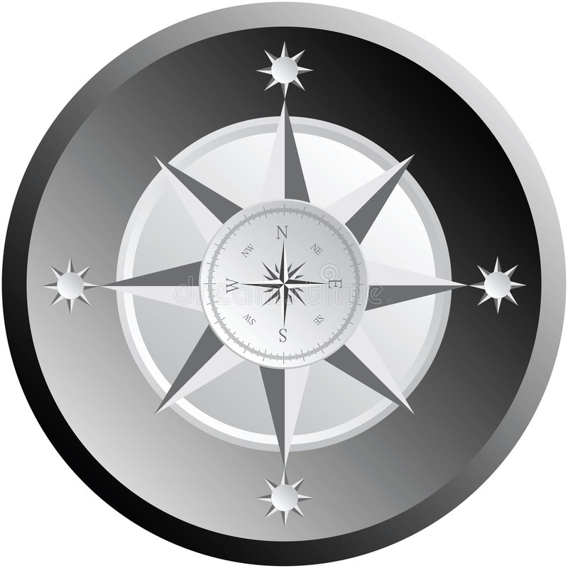 Download Black and white compass stock vector. Illustration of rule - 4084510