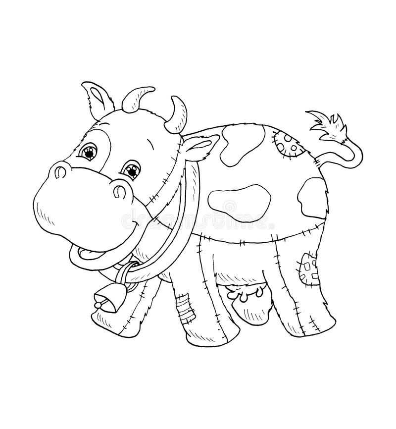 Black and white - cow royalty free stock images