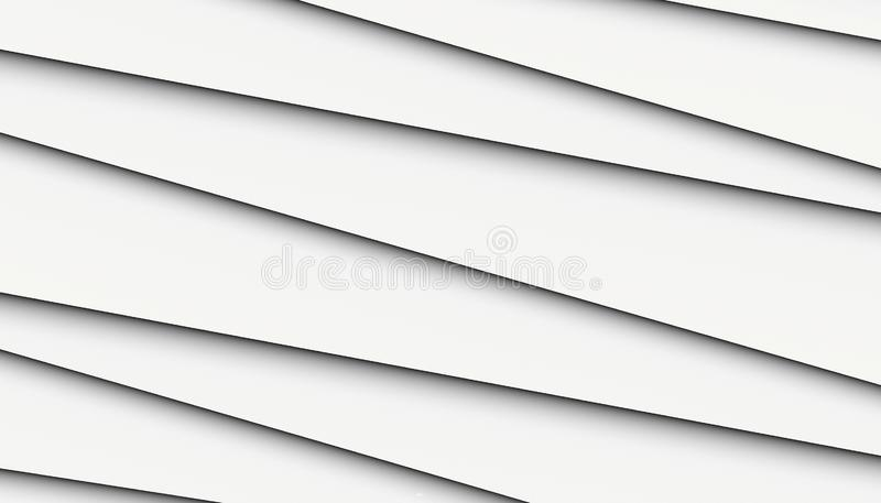 Black and white crisp clean asymmetrical uneven lines angles abstract background wallpaper illustration royalty free illustration