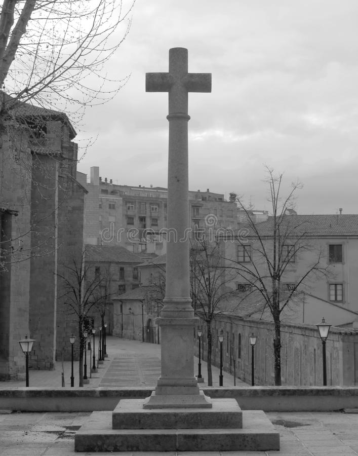 Black and white cross stock images