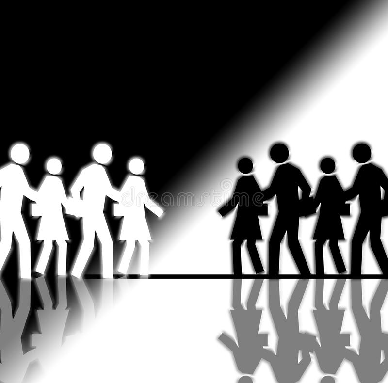 Black and White Crowd royalty free stock photos