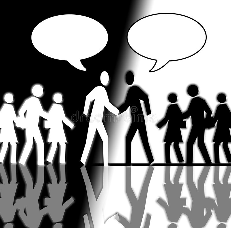Black And White Crowd Shaking Hands 2 Stock Image