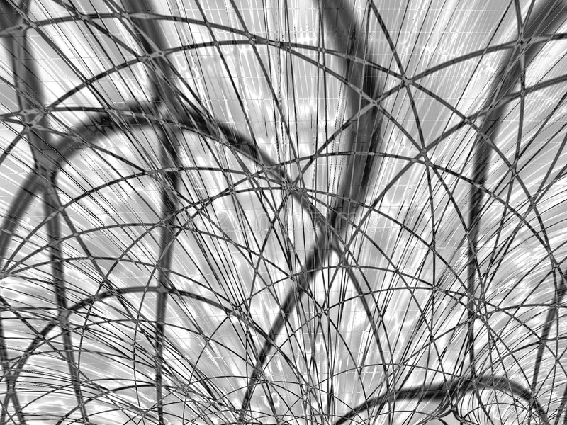 Black and White Curved Lines. An abstract black and white texture with curved lines and scratches royalty free stock image