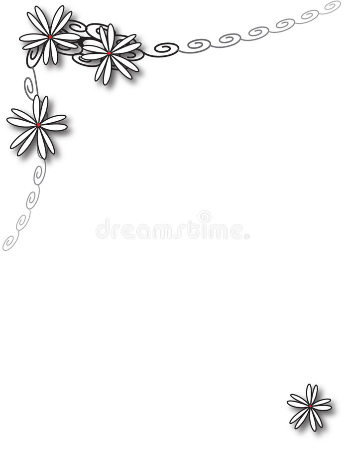 Black and white daisy chain royalty free stock photography