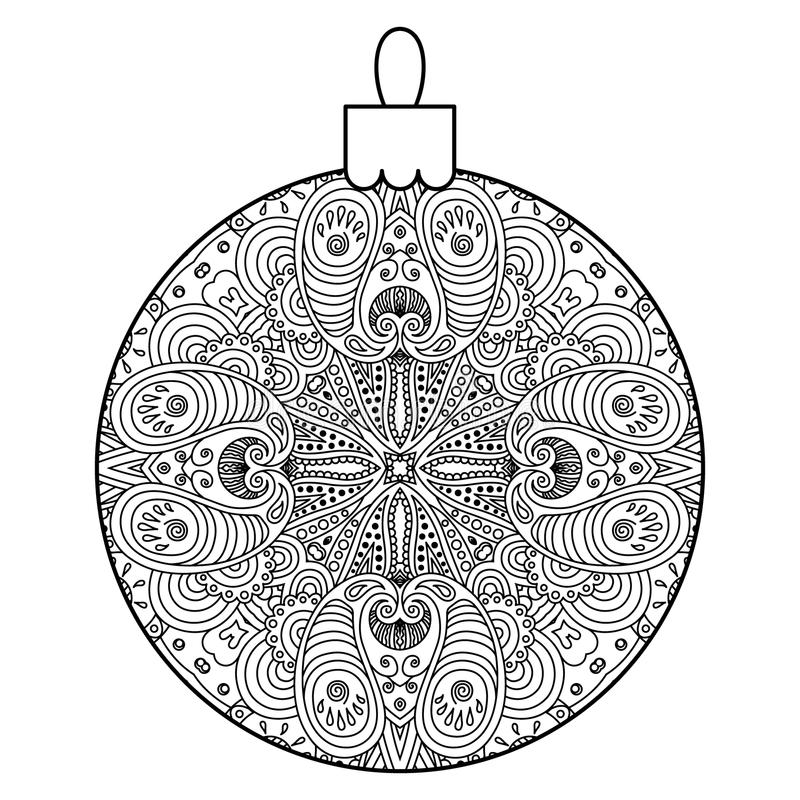 Download Black And White Decorative Christmas Ball Stock Vector