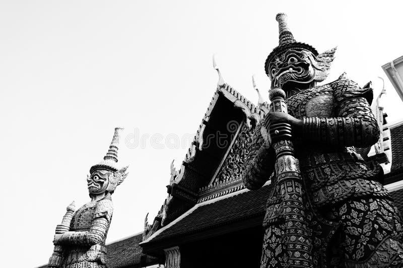 Black & White demon stock images