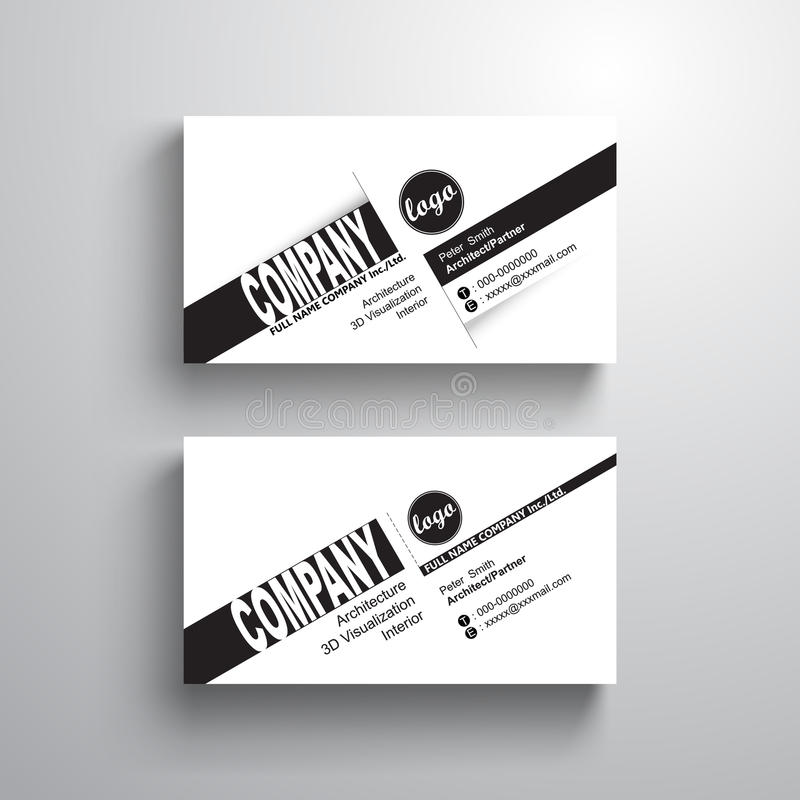 Black white design typography name card template business card download black white design typography name card template business card minimalist style vector reheart Image collections