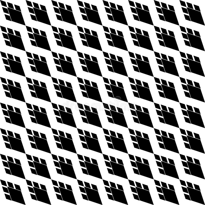 Black and white diagonal Geometric texture with rhombuses. Diamonds seamless pattern. SEAMLESS, GEOMETRIC REPEAD,PRINTING .BED SHEET, ,DOMESTIC PATTERN, DESIGN stock illustration