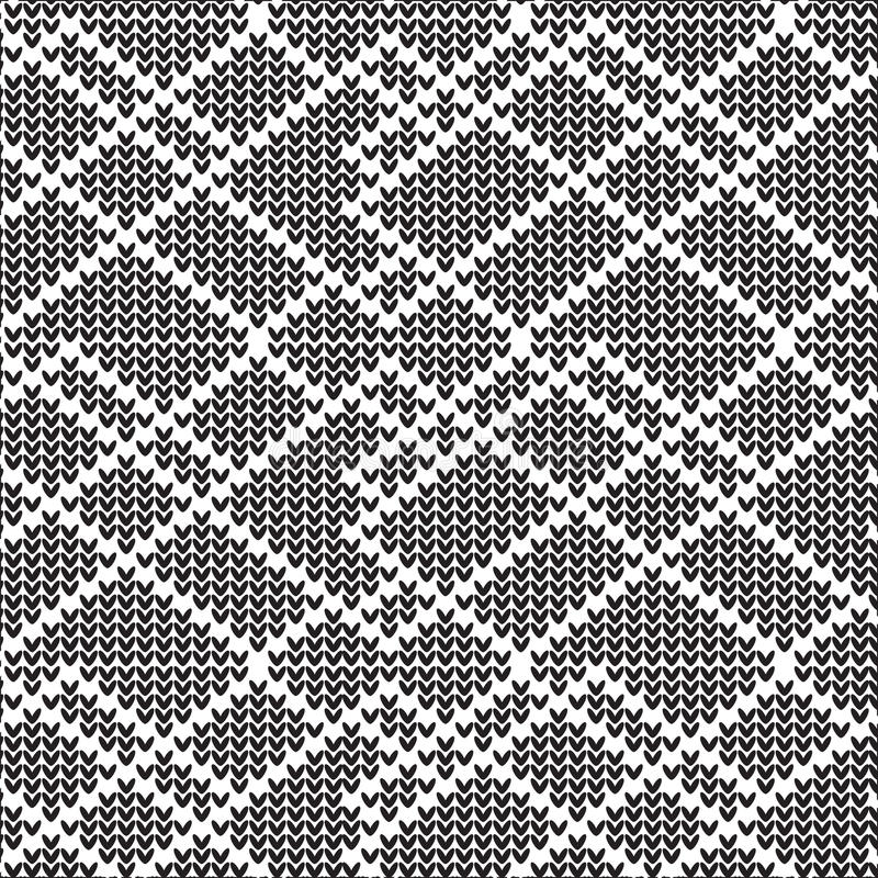 Black And White Diamond Shape Abstract Knitting Pattern Stock Vector ...
