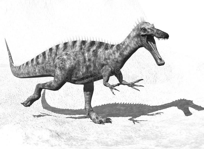 Download Black and white dinosaur stock illustration. Illustration of carnivore - 22067359