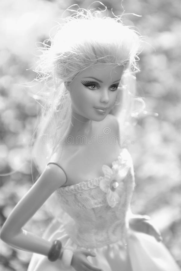 Black And White, Doll, Human Hair Color, Beauty royalty free stock images