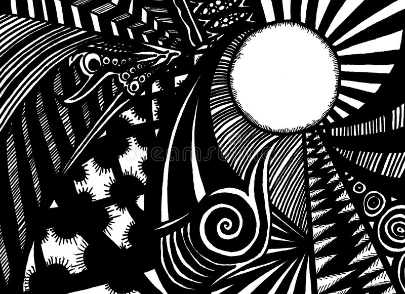 Black And White Doodle Stock Images