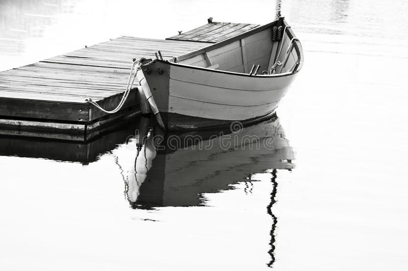 Download Black & White Dory @ Rest stock photo. Image of reflection - 26845994