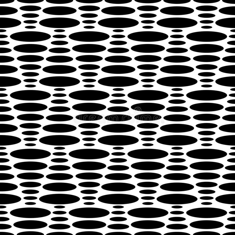 Black and White Dot Triangles Seamless Texture stock illustration