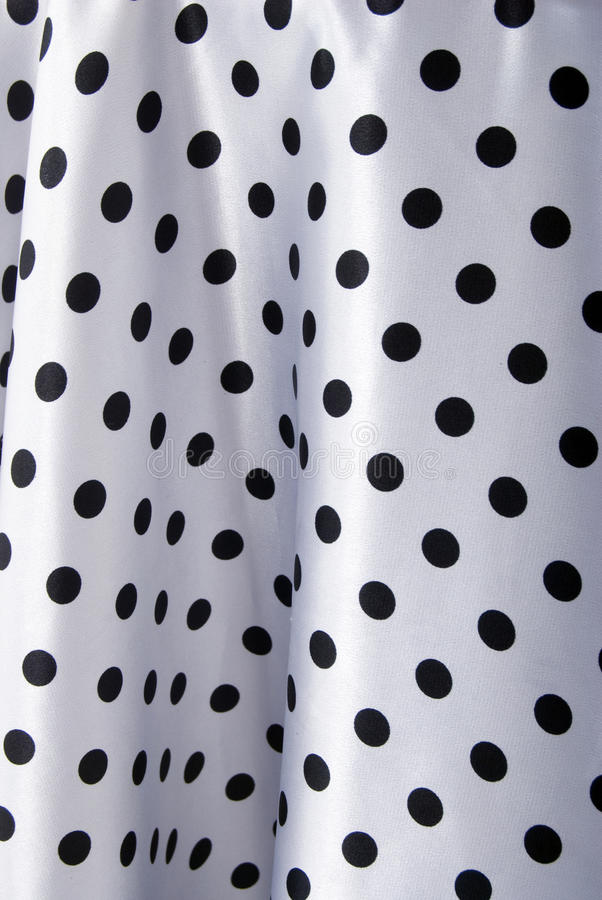 Black And White Dots Pattern. Silk Textile stock images