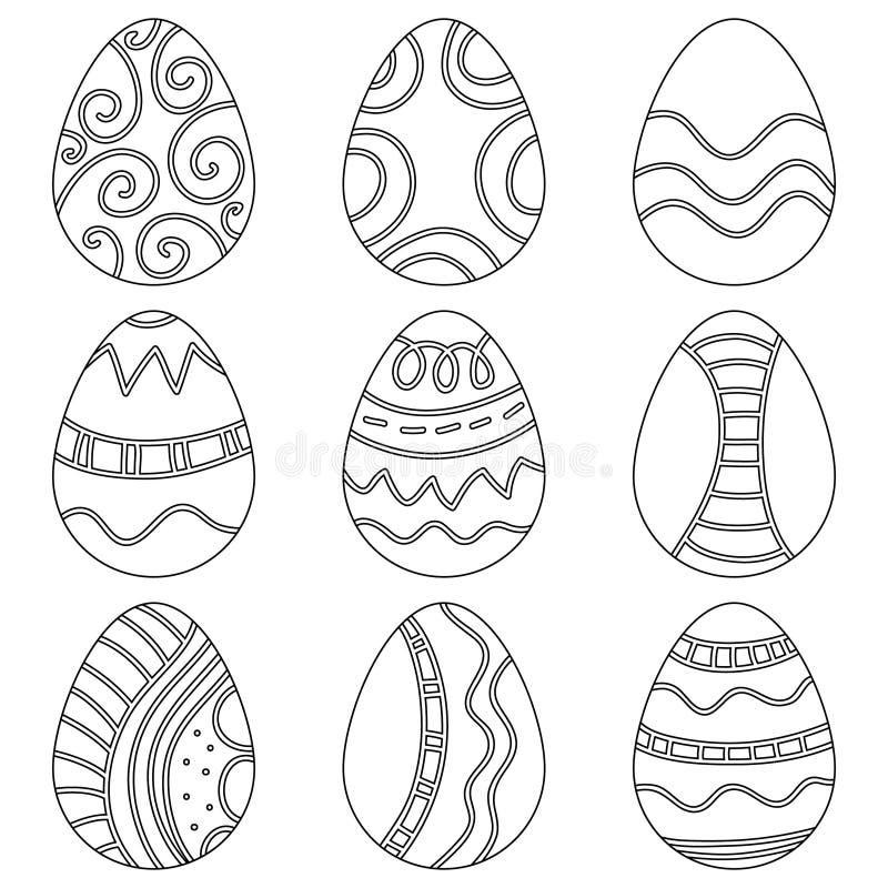 Black and white Easter Eggs vector illustration
