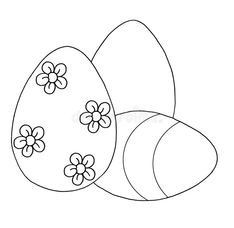 Black and white - Eggs of Easter royalty free stock photo