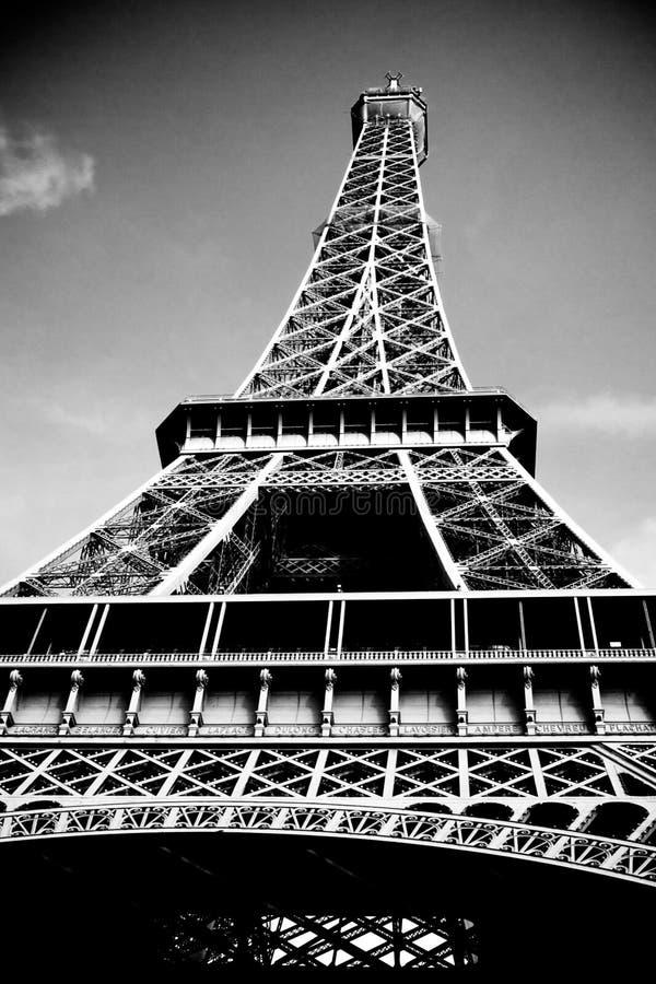 Black and white Eifel Tower stock photos