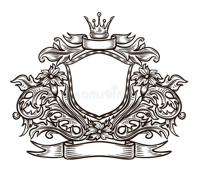 Download Black and white emblem stock vector. Illustration of design - 27302726