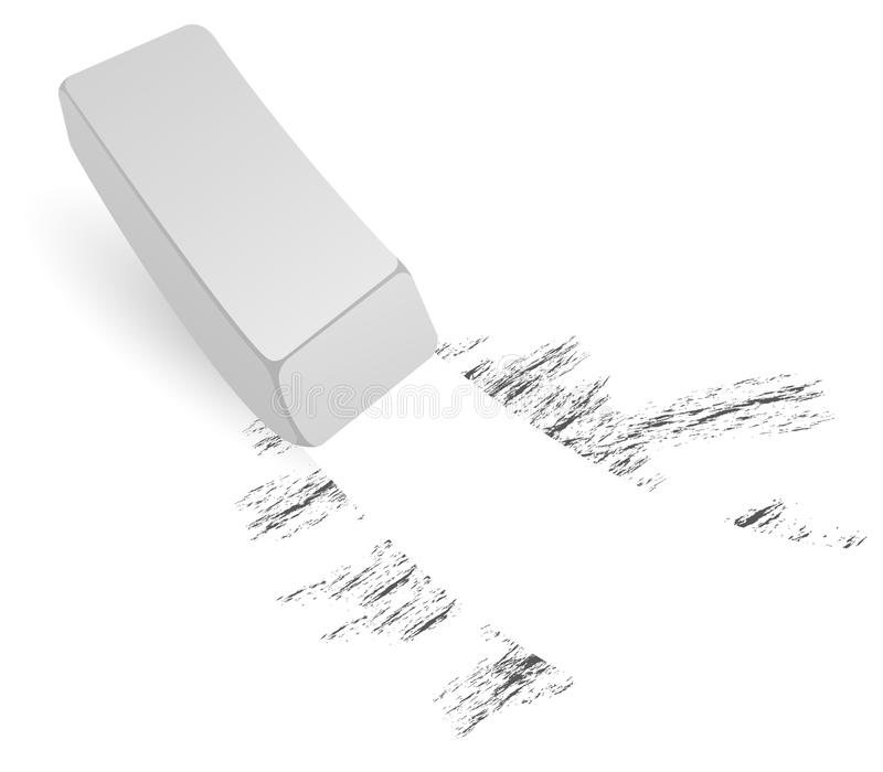 Download Black and white eraser stock vector. Image of stroke, painted - 9407321