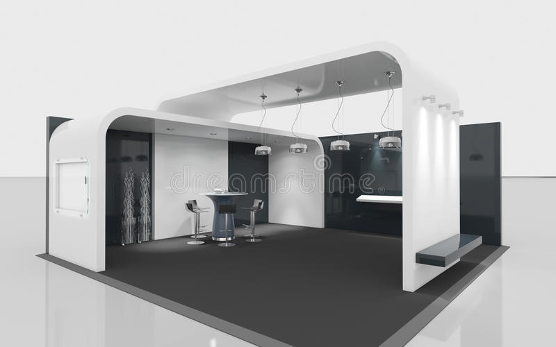 Exhibition Stand Design Free : Black and white exhibition stand stock illustration