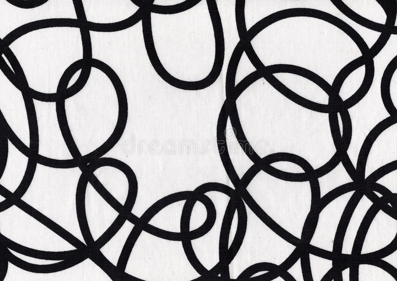 Black and white fabric stock image