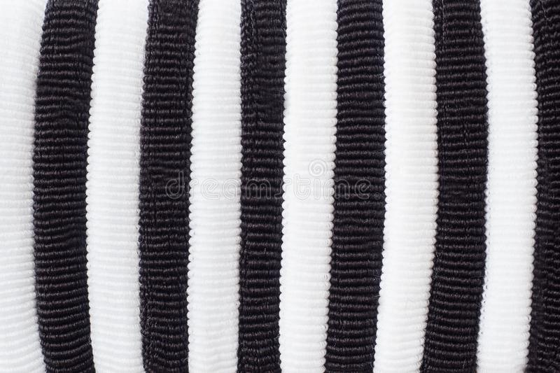 Black and white fabric texture. Striped background royalty free stock photos