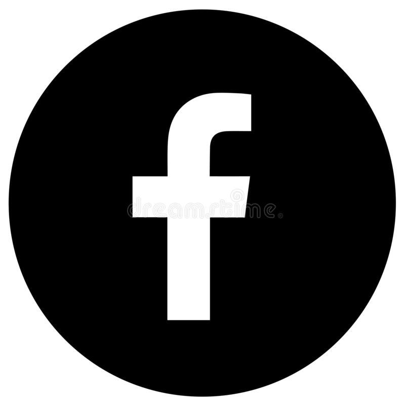 Facebook icon black and white free
