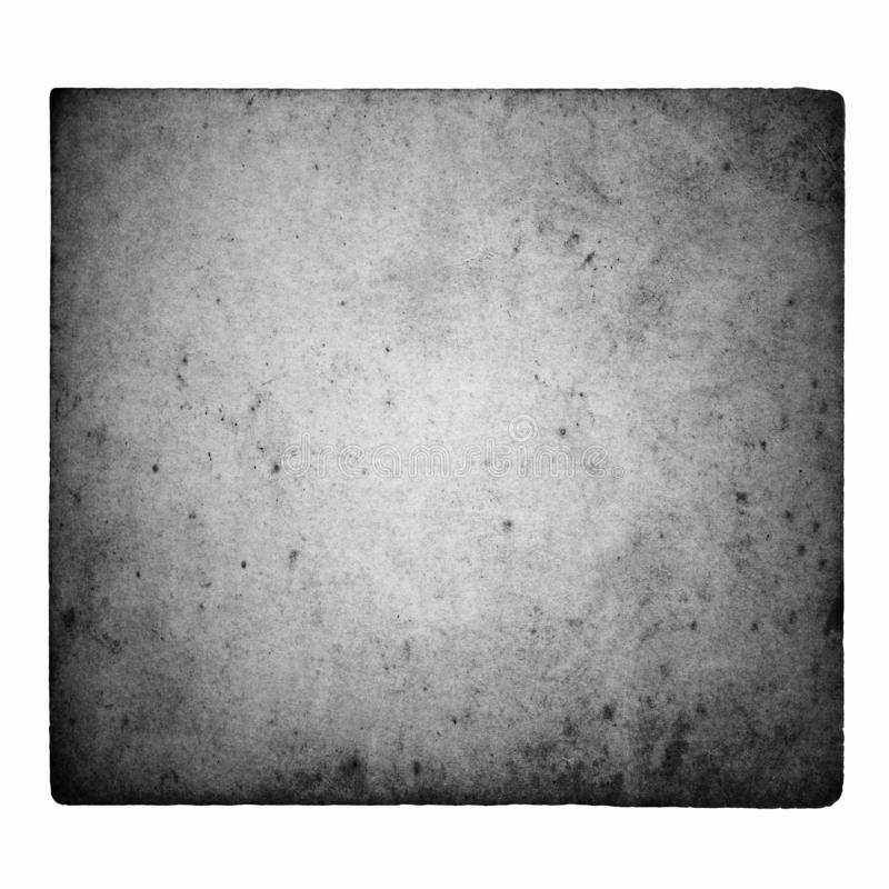 Black and white film frame with light leaks and grain isolated on white background. stock image