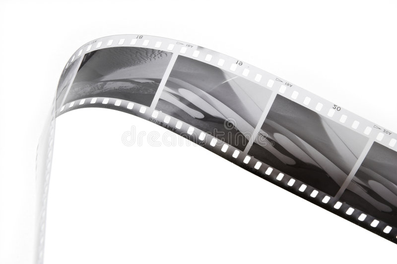Black and white film strip royalty free stock photography