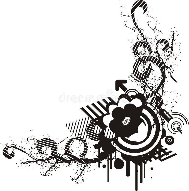 black and white floral design stock vector illustration of rh dreamstime com black and white vector art of famous people black and white vector art of tiki bar