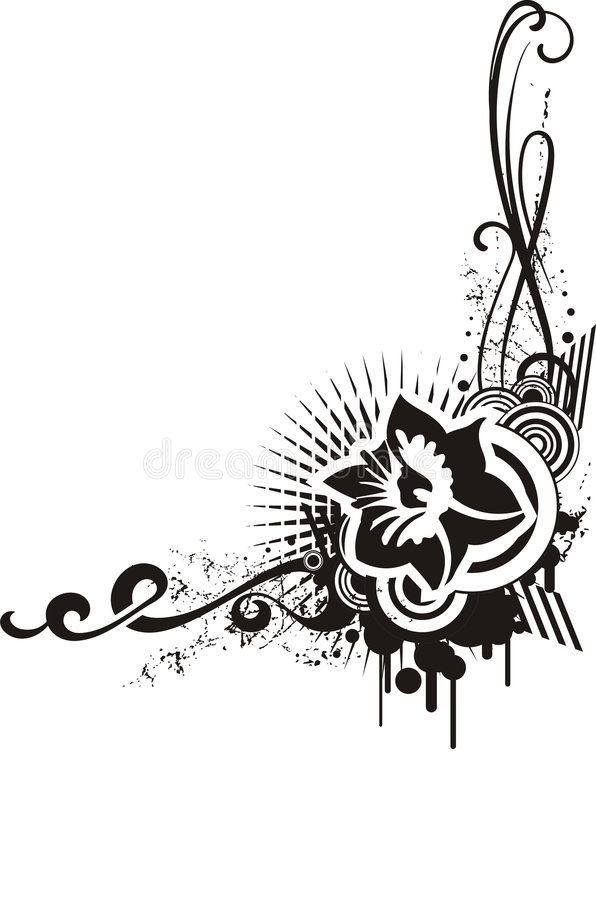 Download Black & White Floral Designs Stock Photography - Image: 4241982