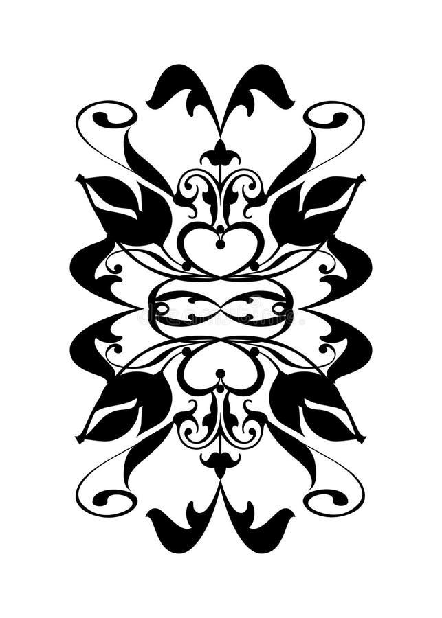 Black white flourish royalty free stock image
