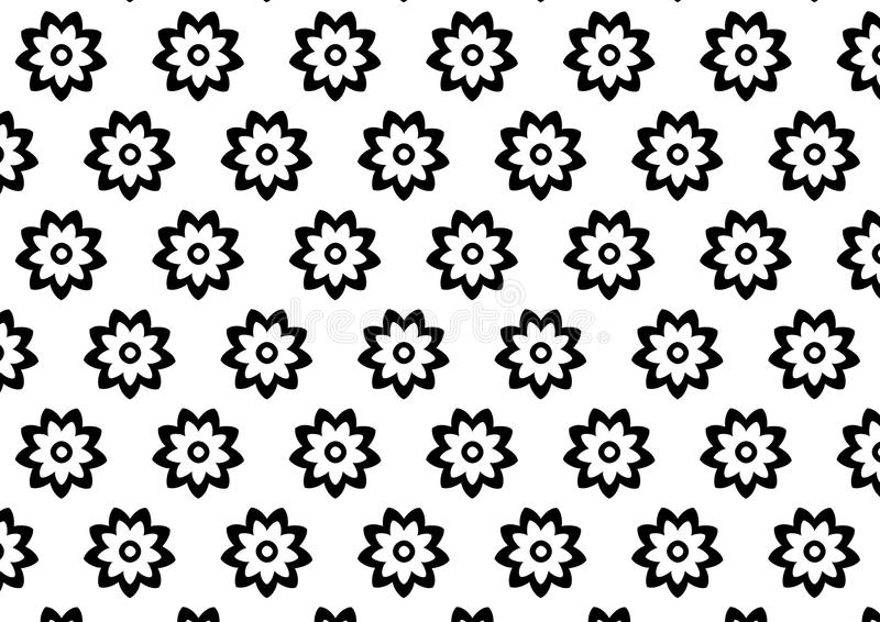 Black and white flower pattern royalty free illustration