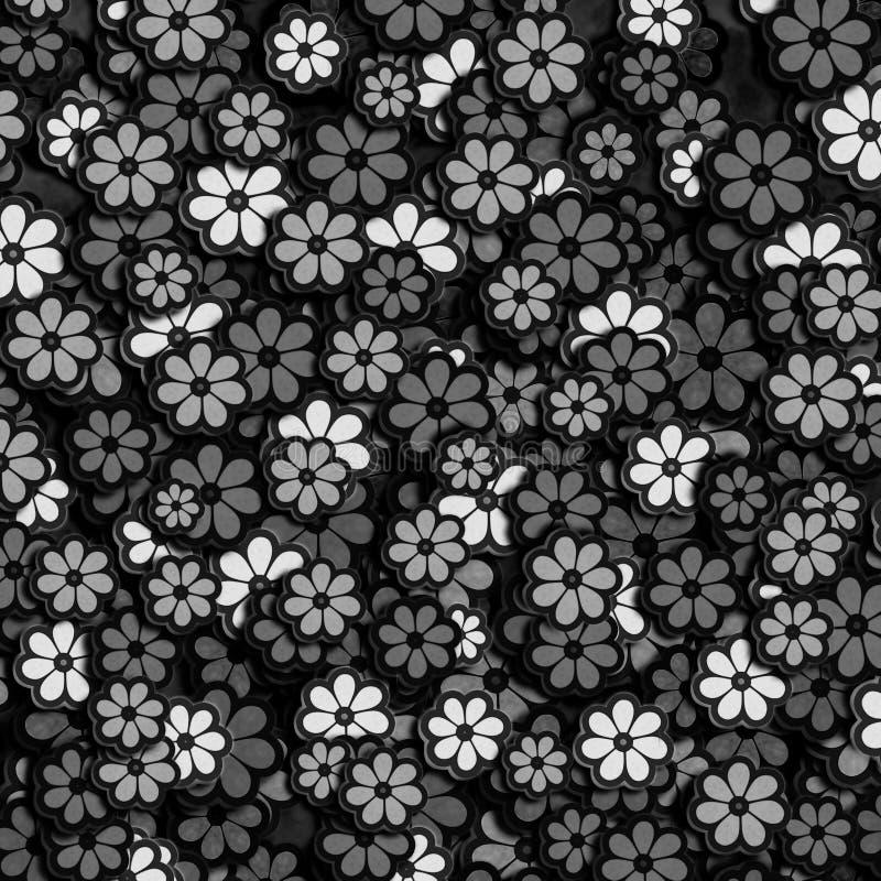Black Flower On White Background Royalty Free Stock: Black And White Flower Pattern Stock Illustration