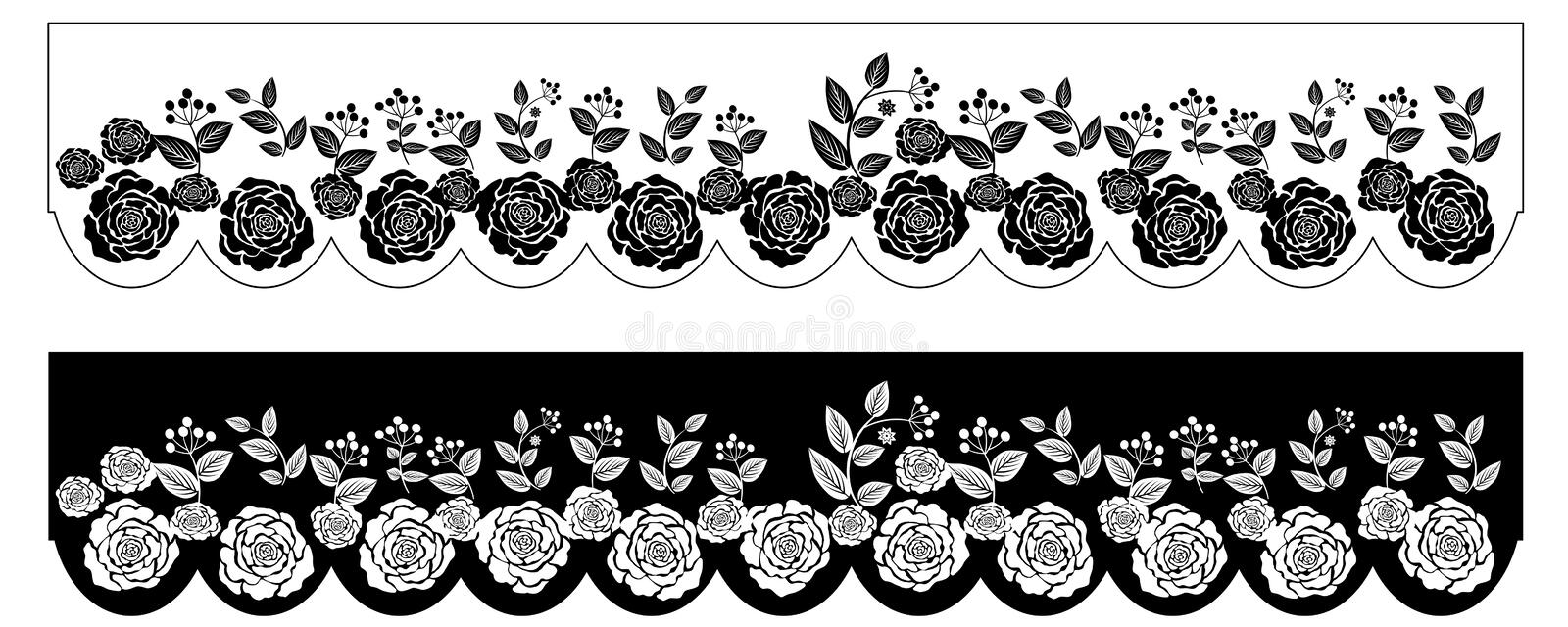 Black white flowers border stock vector illustration of leaves download black white flowers border stock vector illustration of leaves 96416797 mightylinksfo Image collections