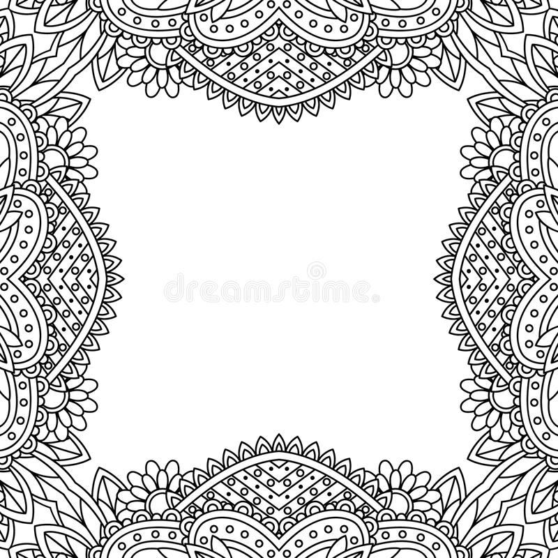 Black and white frame. stock illustration