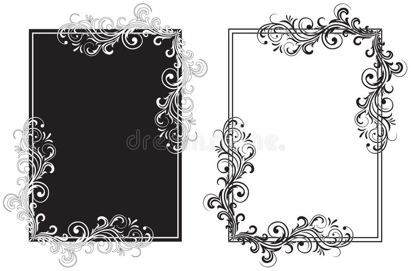 Black and white frames stock vector Illustration of border 11626703