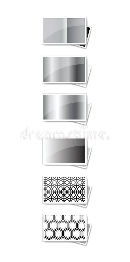 Black and white frames royalty free stock photography