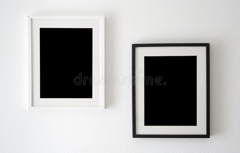 Black and white frames royalty free stock photos