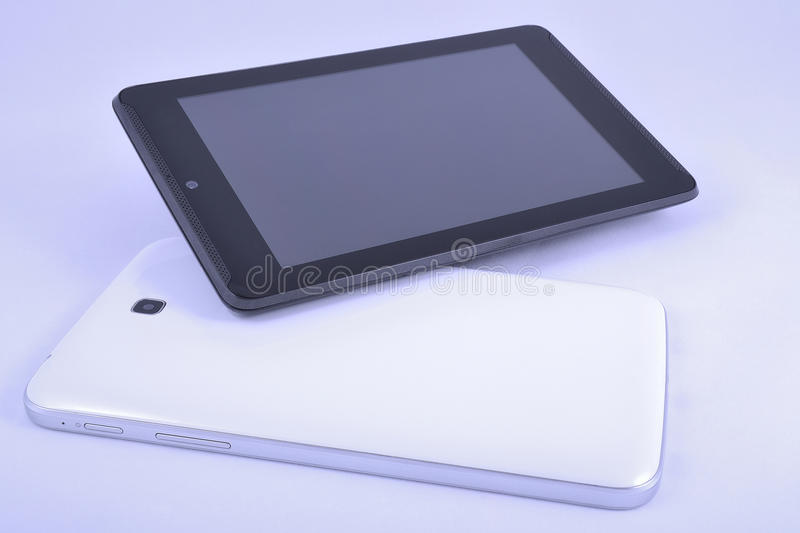 Black and white gadgets stock images