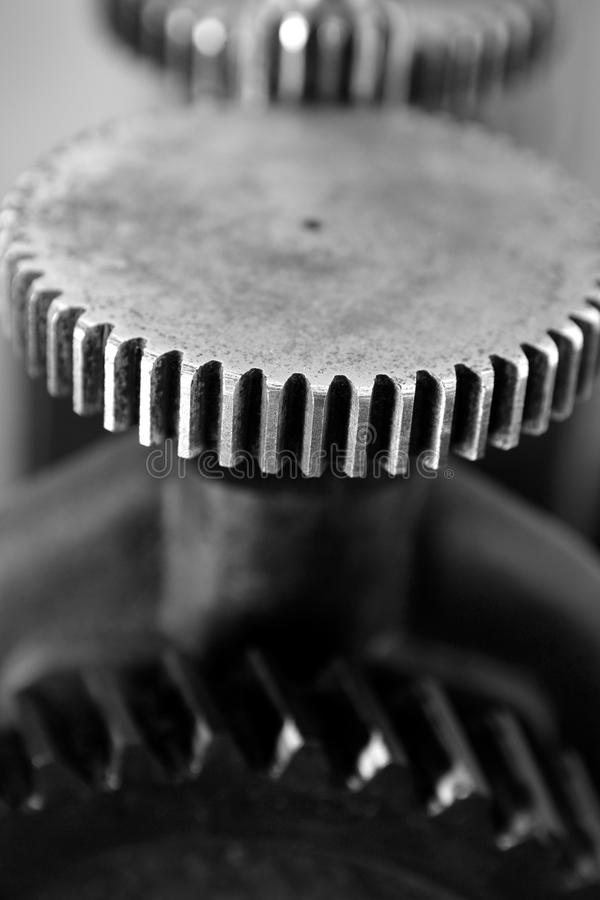 Download Black And White Gear Macro As Teamwork Stock Image - Image: 13065855