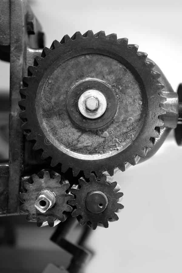 Download Black And White Gear Macro As Teamwork Royalty Free Stock Photos - Image: 13277348