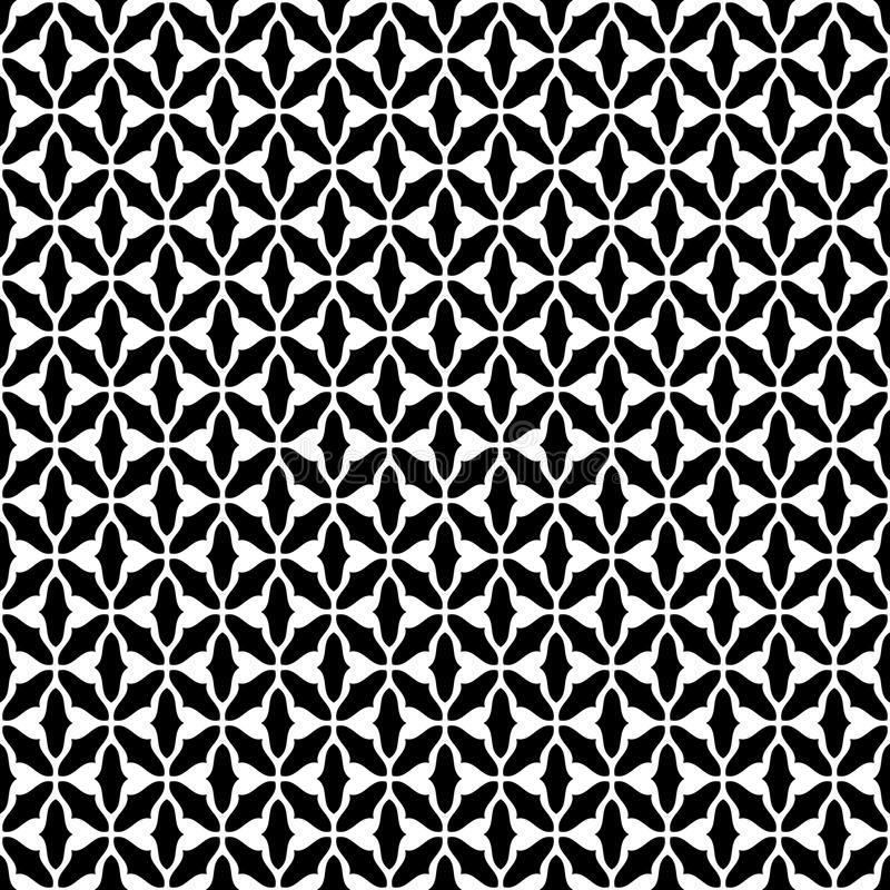 Black and white geomagnetic seamless pattern vector stock illustration