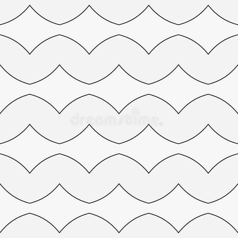 Black and white geometric background with thin lines. Seamless background in minimalist style. stock illustration