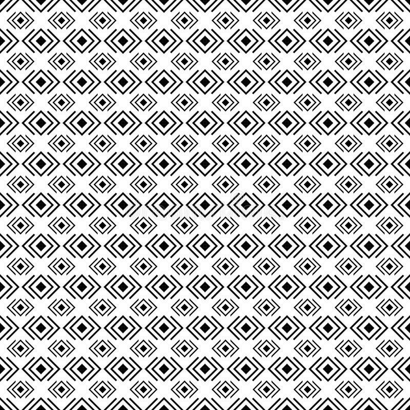 Black and white geometric diamond shape seamless pattern, vector. Endless texture can be used for printing onto fabric, paper or scrap booking, wallpaper vector illustration
