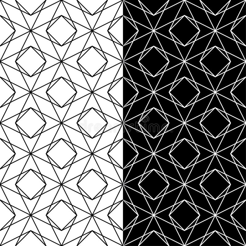 Download black and white geometric prints set of seamless patterns stock vector illustration of