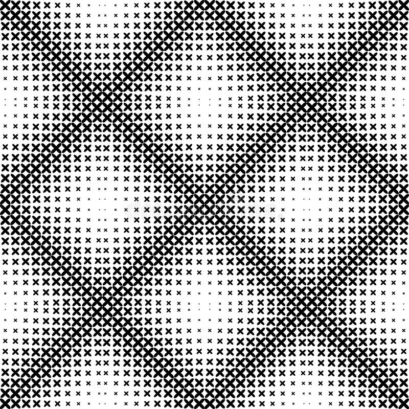 Black and white geometric seamless pattern, abstract background. stock illustration