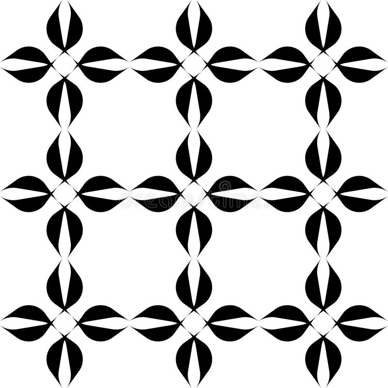 Black and white geometric seamless pattern, abstract background. Black and white geometric seamless pattern, abstract background, vector, illustration stock illustration